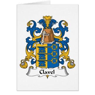 Escudo de la familia de Clavel Tarjeta De Felicitación