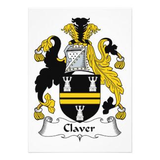 Escudo de la familia de Claver Invitacion Personalizada