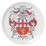 Escudo de la familia de Claver Plato Para Fiesta
