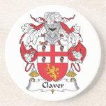 Escudo de la familia de Claver Posavasos Diseño