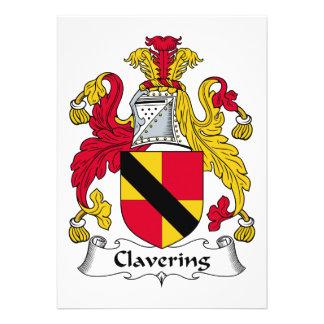 Escudo de la familia de Clavering Anuncio Personalizado