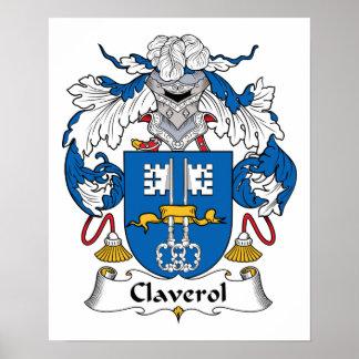 Escudo de la familia de Claverol Poster