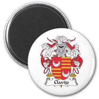 Escudo de la familia de Clavijo Imán Para Frigorífico
