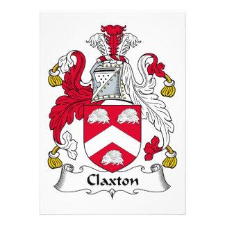 Escudo de la familia de Claxton Comunicado