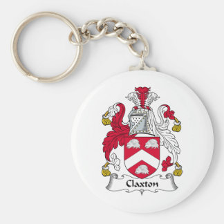 Escudo de la familia de Claxton Llavero Personalizado