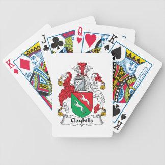 Escudo de la familia de Clayhills Baraja Cartas De Poker