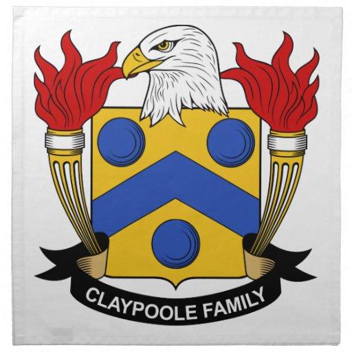 Escudo de la familia de Claypoole Servilleta Imprimida