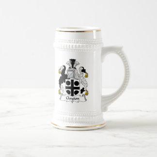 Escudo de la familia de Clayton Jarra De Cerveza