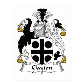 Escudo de la familia de Clayton Postal
