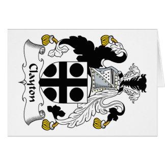 Escudo de la familia de Clayton Tarjeta De Felicitación