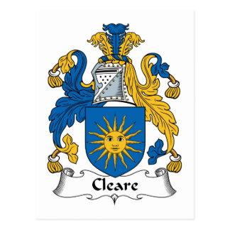 Escudo de la familia de Cleare Postal