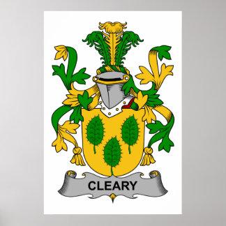 Escudo de la familia de Cleary Póster