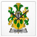 Escudo de la familia de Cleary Reloj