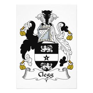 Escudo de la familia de Clegg Invitaciones Personalizada