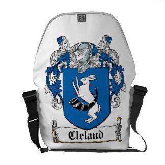 Escudo de la familia de Cleland Bolsa De Mensajeria