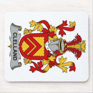 Escudo de la familia de Clelland Tapetes De Raton