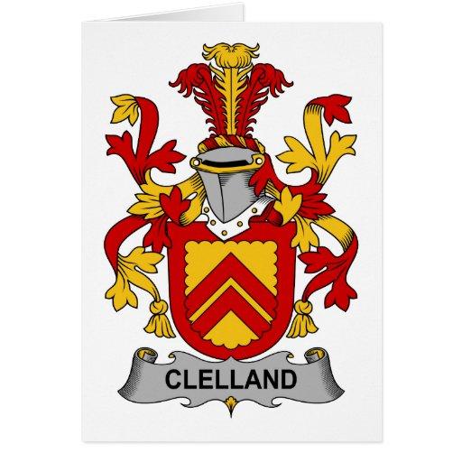 Escudo de la familia de Clelland Tarjeta De Felicitación