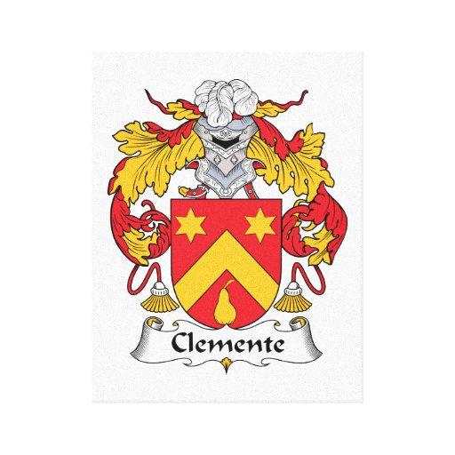 Escudo de la familia de Clemente Impresión En Lienzo