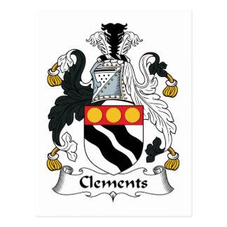 Escudo de la familia de Clements Postales