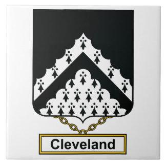 Escudo de la familia de Cleveland Azulejos Cerámicos