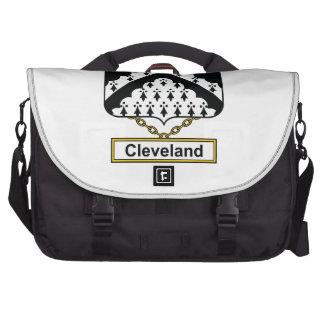 Escudo de la familia de Cleveland Bolsa De Ordenador