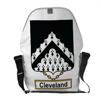 Escudo de la familia de Cleveland Bolsa De Mensajería