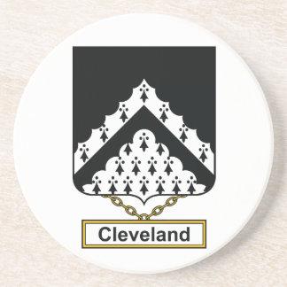 Escudo de la familia de Cleveland Posavasos Personalizados