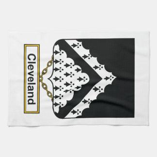 Escudo de la familia de Cleveland Toalla De Mano