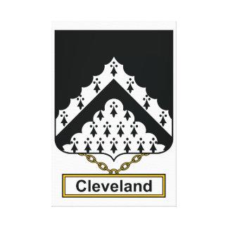Escudo de la familia de Cleveland Impresiones En Lona