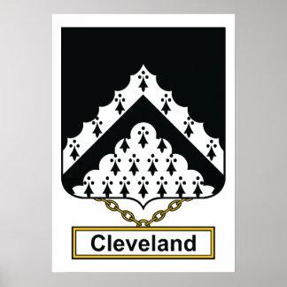 Escudo de la familia de Cleveland Poster