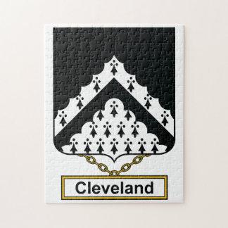 Escudo de la familia de Cleveland Rompecabeza Con Fotos