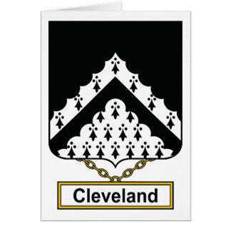 Escudo de la familia de Cleveland Tarjeta De Felicitación