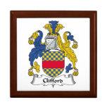 Escudo de la familia de Clifford Caja De Regalo