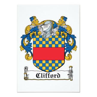 Escudo de la familia de Clifford Invitación 12,7 X 17,8 Cm