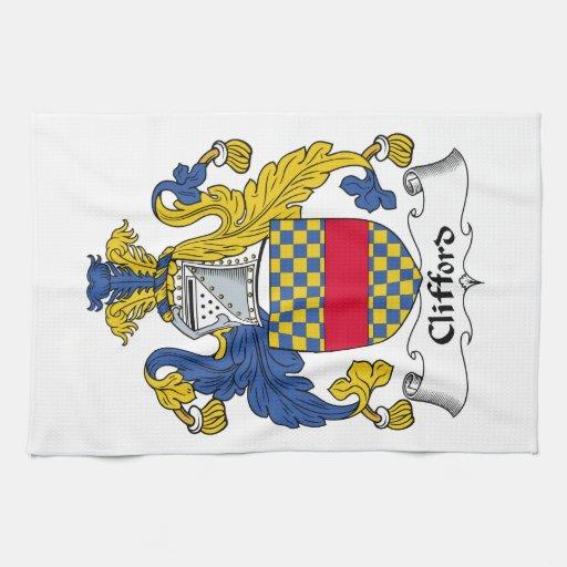 Escudo de la familia de Clifford Toallas