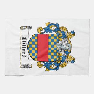 Escudo de la familia de Clifford Toallas De Mano