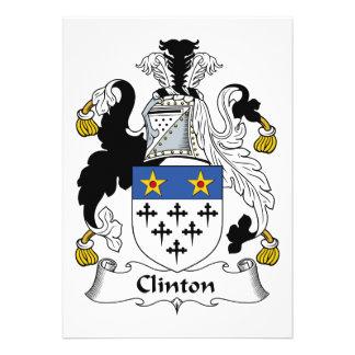 Escudo de la familia de Clinton Comunicados Personales