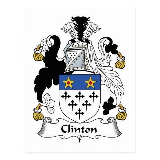 Escudo de la familia de Clinton Tarjetas Postales