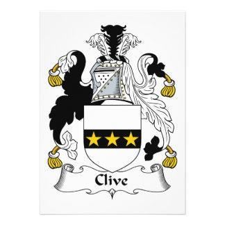 Escudo de la familia de Clive Invitación