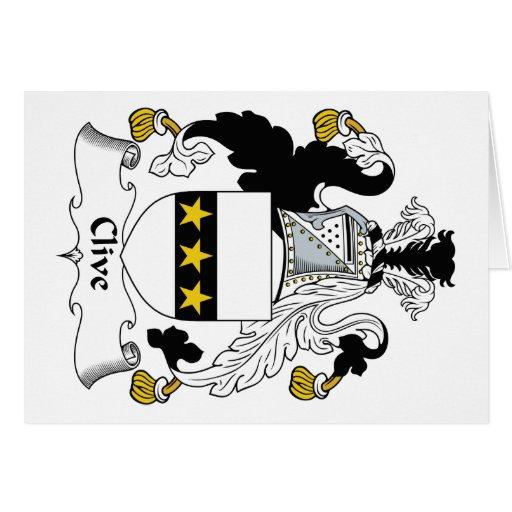Escudo de la familia de Clive Tarjeta De Felicitación