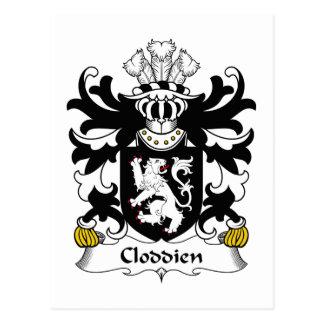 Escudo de la familia de Cloddien Postales
