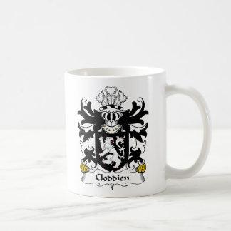Escudo de la familia de Cloddien Tazas