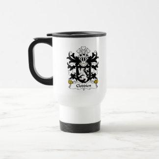 Escudo de la familia de Cloddien Taza De Café