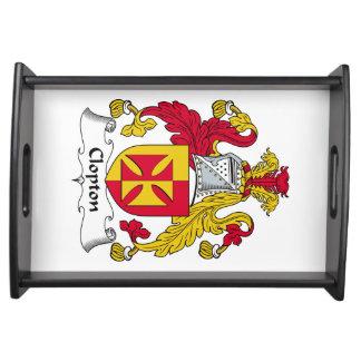 Escudo de la familia de Clopton Bandejas