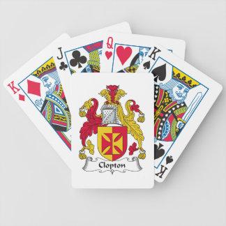 Escudo de la familia de Clopton Baraja De Cartas