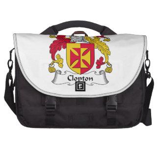 Escudo de la familia de Clopton Bolsa Para Ordenador