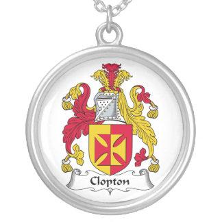 Escudo de la familia de Clopton Colgante Redondo