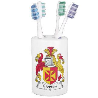 Escudo de la familia de Clopton Accesorios De Baño