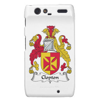 Escudo de la familia de Clopton Droid RAZR Funda