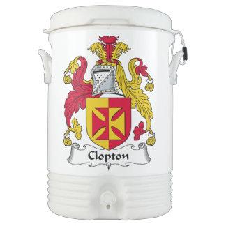 Escudo de la familia de Clopton Refrigerador De Bebida Igloo